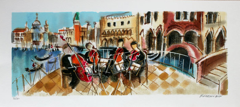 "MICHAEL ROZENVAIN ""ORCHESTRAL BALCONY"" S/N SERIGRAPH ON PAPER"