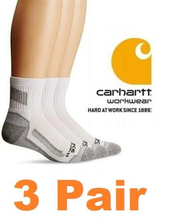 3 Pair Carhartt Work Socks - Size 6-12