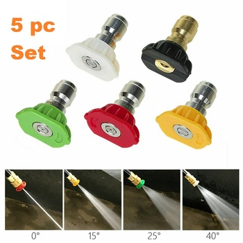 5 pc High Pressure Power Washer Nozzles