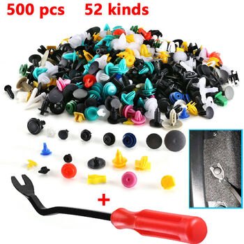 500 pcs Assorted Auto Fastener Clips With Tool