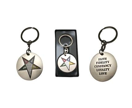 Masonic Order of the Eastern Star Key chain