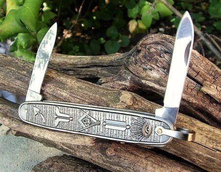 Masonic Folding Pocket Knife