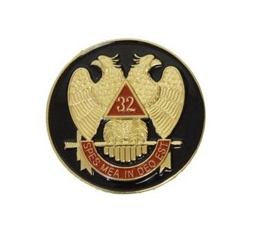 Masonic 32nd Degree Car Enblem - Black