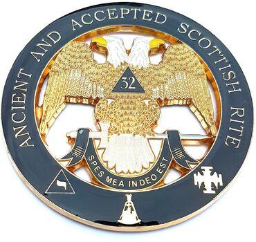 Masonic Ancient & Accepted Car Enblem - Black