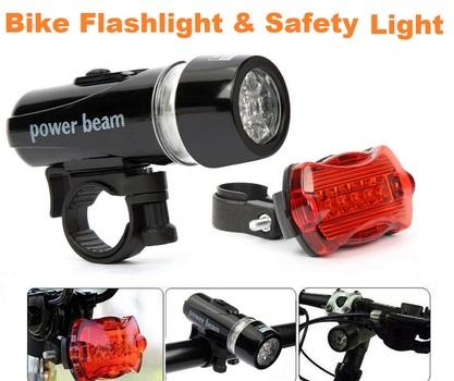 2 in 1 Bike LED Flashlight & Safety Light Combo