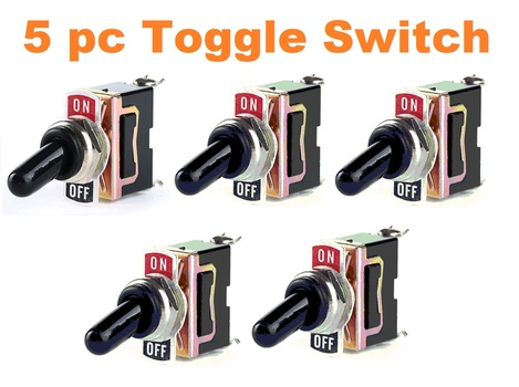 5 pc Heavy Duty Toggle Switches