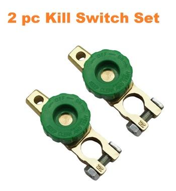 2 pc Battery Terminal Master Kill Switch Set