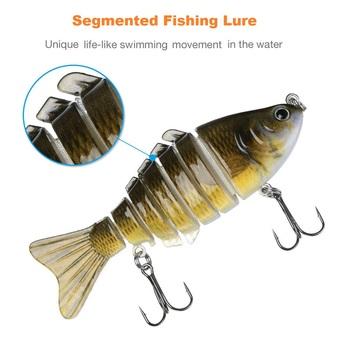 Segmented 3D FishTackle Hook -  Bass, Trout, Minnow