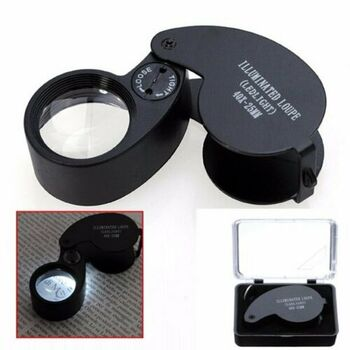 40X LED Magnifying Jewelry Glass Loupe