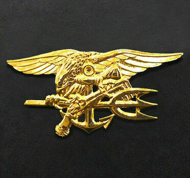 US Navy SEALS Gold Trident Insignia Badge