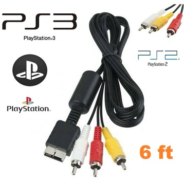 PlayStation 1, 2, 3 AV Audio Video Cable Cord