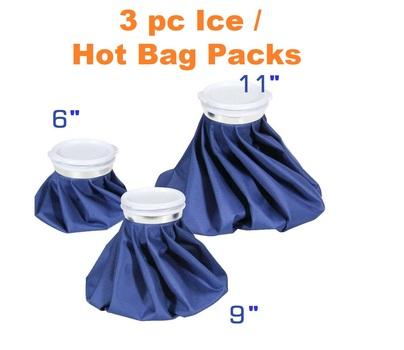 3 pc Reusable Ice / Hot Bag Packs