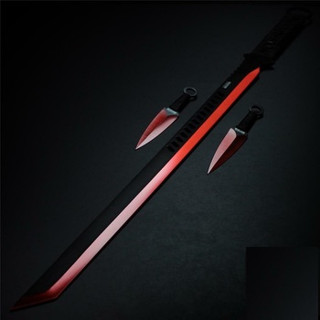 """27"""" Tanto Sword Machete With Throwing Knives"""