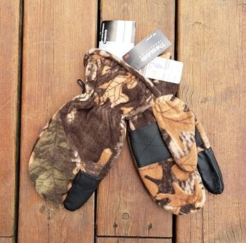 Camo Trigger Finger Hunting Gloves - Size L