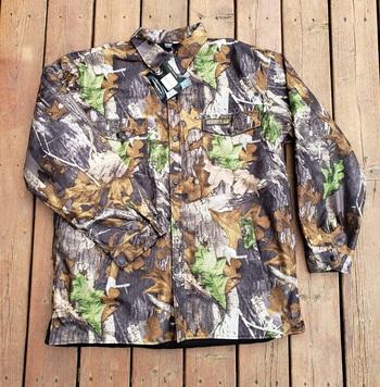 Men's Waterproof Camo Hunting Shirt - Size XXL