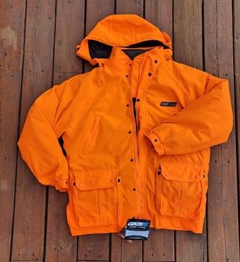 Men's 4 in 1  Waterproof Orange Hunting Jacket - Size L