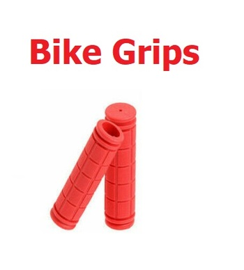 New  Rubber Bike Grips - Red