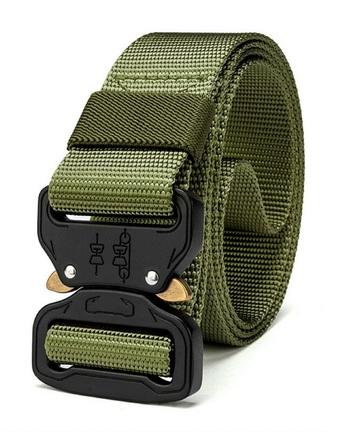 Quick Release Tactical Nylon Belt - Green