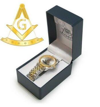 Masonic Past Master Gold Tone Watch