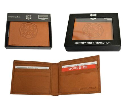 Fire Department RFID Leather Wallet