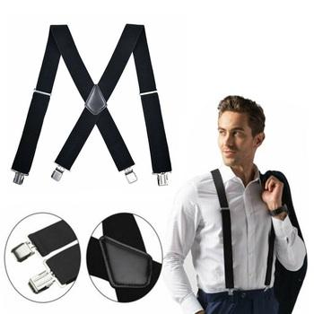 """Men's X-Back 2"""" Wide Adjustable Suspenders"""