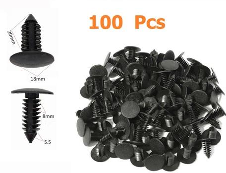 100 pc Auto Clips - Plastic Rivets