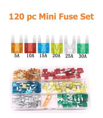 120 pc Mini Blade Auto Fuse Set