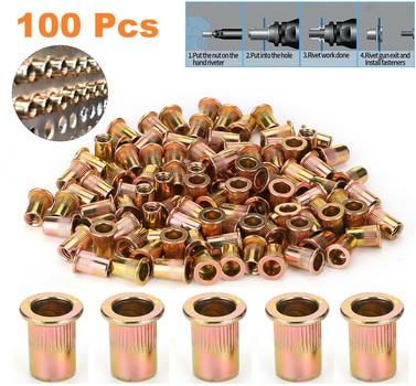 100 pc Carbon Steel Rivets