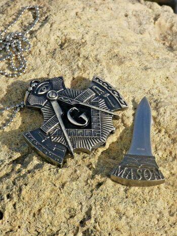 Masonic Necklace Pendant Knife