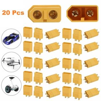 10 Pair XT-60 Male Female Bullet Connectors