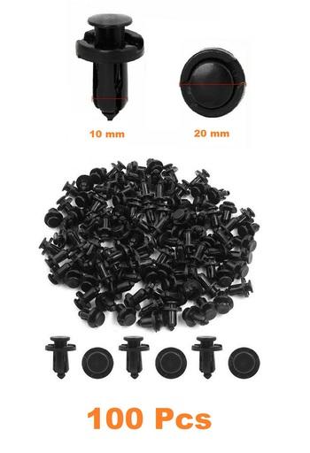100 pc Auto Bumper Clips - Plastic Rivets
