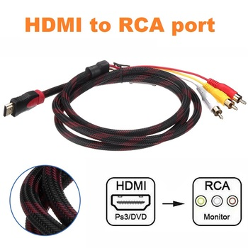 HDMI To RCA Video Audio Adapter Cable