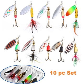 10 pc Trout, Bass, Salmon Fishing Lures