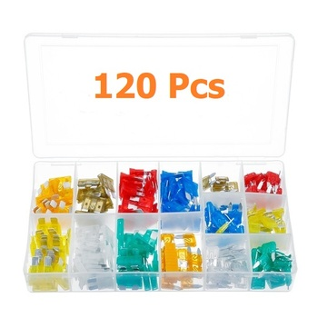 120 pc Standard Size Auto Fuse Set
