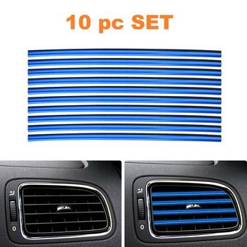 10 Pc Air Vent Stips - Blue