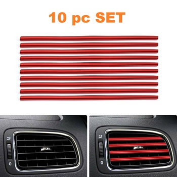 10 Pc Air Vent Stips - Red