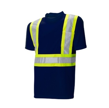 DryFit Navy Safety T-Shirt - Size Large