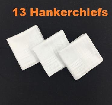 13 pc Cotton Hankerchiefs
