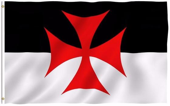 Knights Templar Battle Flag 5 x 3 ft