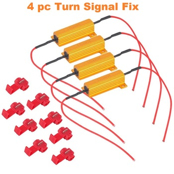 4 pc 50W 6RJ 6ohm Load Resistor Hyper Flash Turn SignalFix