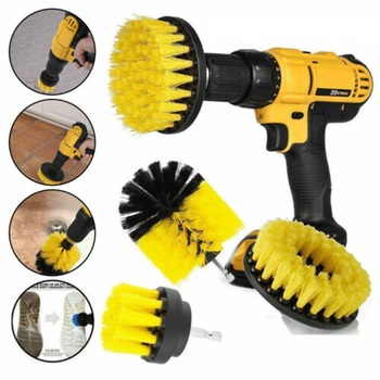 3 pc Power Drill Scrubbing Brushes