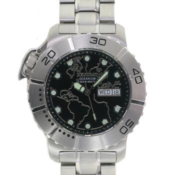Divers 300MM Watch Mens Watch BEUCHAT Oceanium 300m Steel Black Dial 42mm Swiss Made