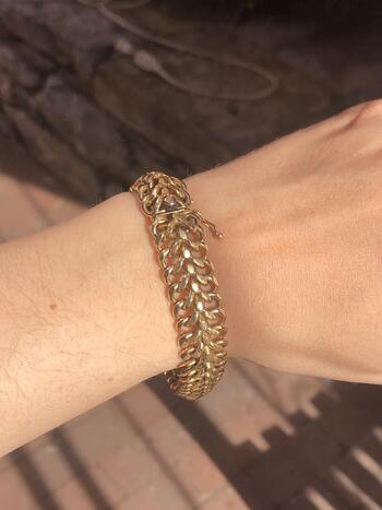 "14K Yellow Gold Fancy Link Charm Bracelet 8"" 56.3 Grams"