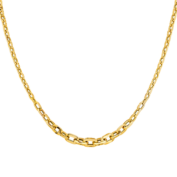 14K Yellow Gold  Fancy Graduated Hollow Necklace