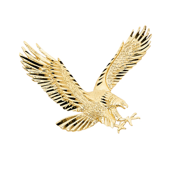 14K Yellow Gold Eagle Pendant  - 35mm x 45mm