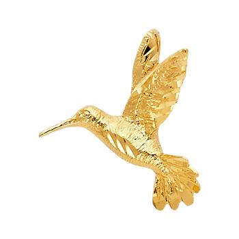 14K Yellow Gold  Bird Pendant - 20 mm X 17 mm