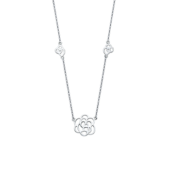 """14K White Gold Necklace - 17+1"""""""